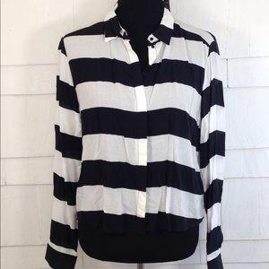NWT H&M striped blouse 10